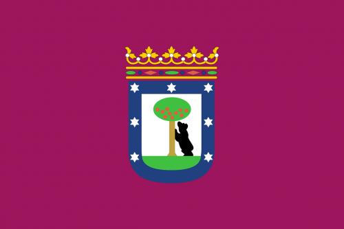 city of madrid flag madrid