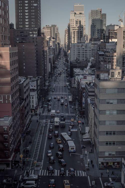 city street aerial view aerial