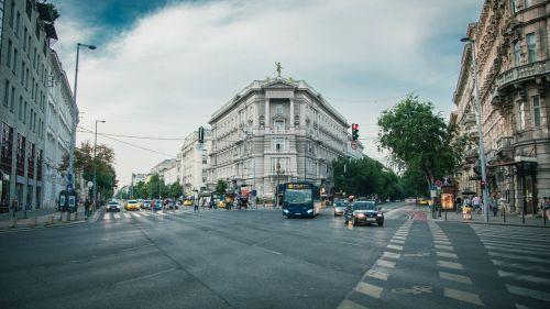 city street cars street