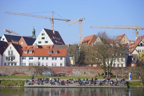 city view ulm construction cranes