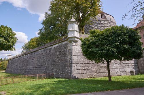 city wall tower weir