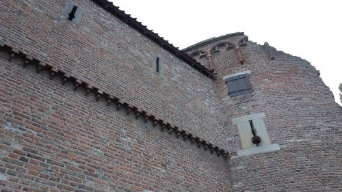 city wall facade historic building