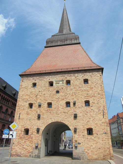 city wall rostock town fortifications