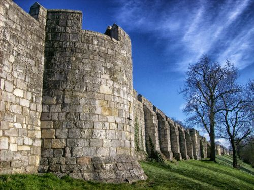 city walls,york,england,great britain,architecture,historic,landmark,stone,block,hdr,outside,wall,barrier