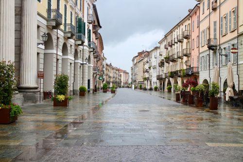 cityscape via ancient rain