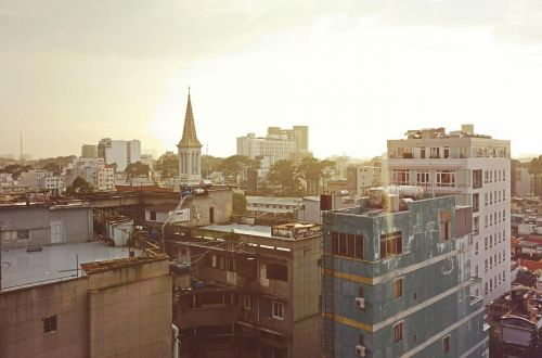 cityscape houses buildings