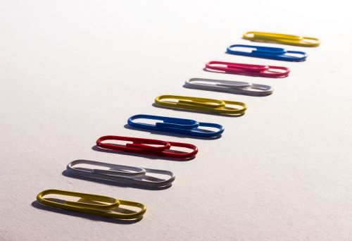 clamp paper clips metal brackets