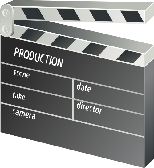 clapper-board film movie