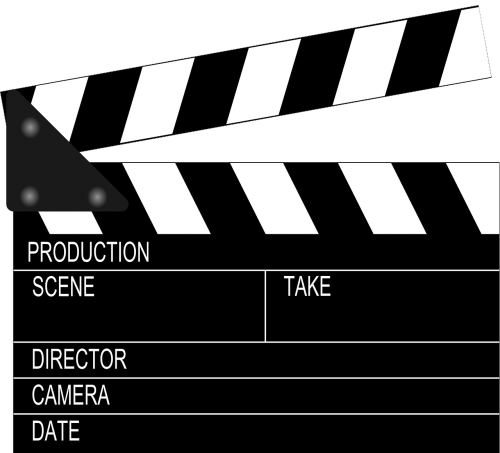 clapperboard clapper clapboard