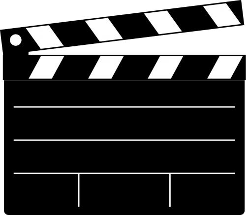 clapperboard black cut