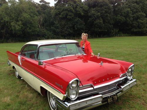 classic car girl