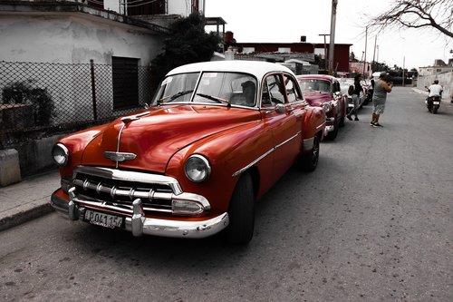 classic auto  cuba  classic