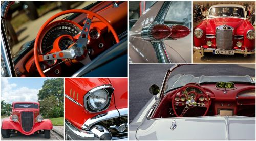 classic cars cars collage