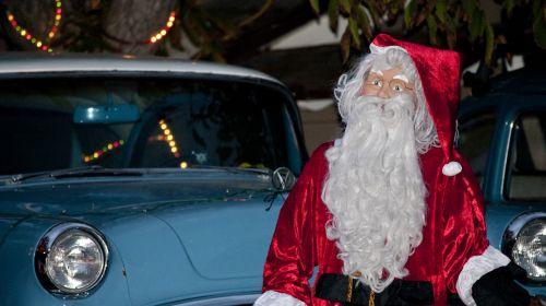 Classic Dodge With Santa