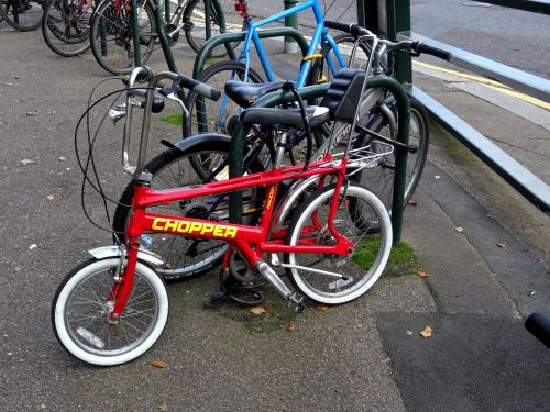 Classic Red Chopper Bicycle