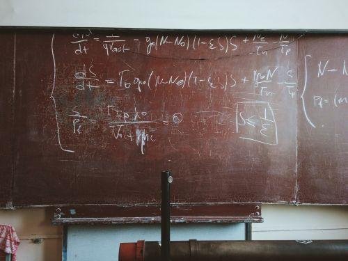 classroom math chalkboard