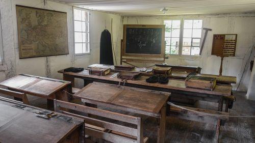 classroom school old classroom