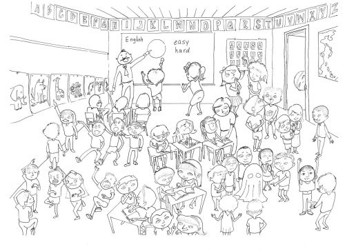 classroom activity drawing