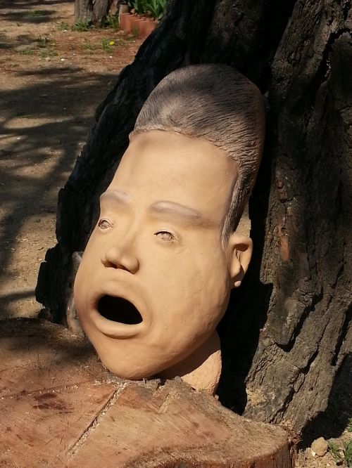 clay award doll heads