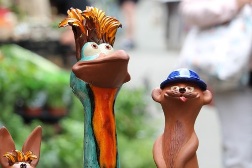 clay figures  ceramic  funny