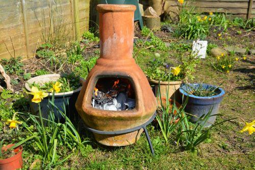clay fire pot stove garden