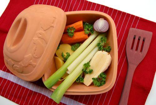 clay pot vegetables remove