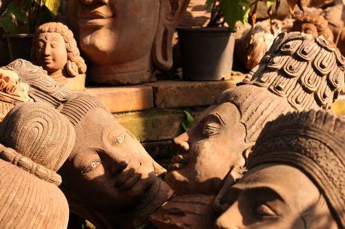 molio skulptūra,keramika,Khmer