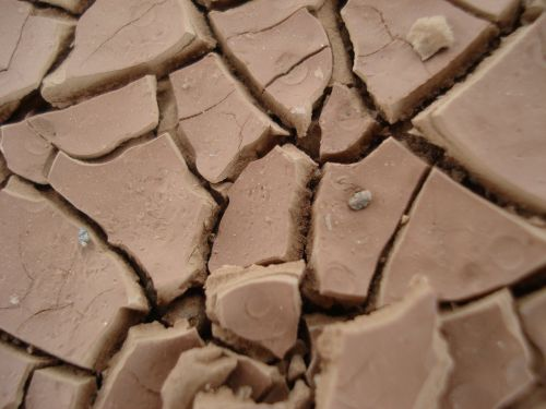 clay soil dehydrated desert