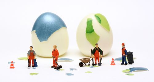 clean easter eggs shell