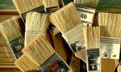 clean paintbrushes bristle paintbrushes painting tools