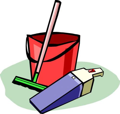 cleaning supplies bucket