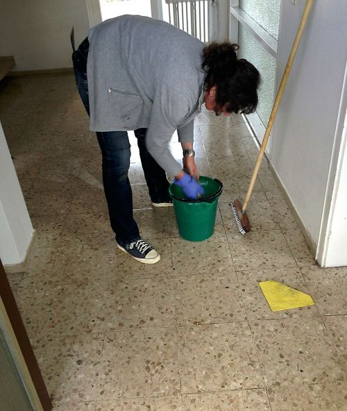 cleaning lady clean work