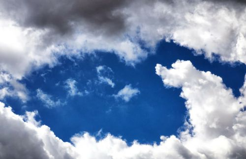 clear sky clouds
