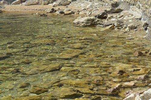 clear water  rocks  sea