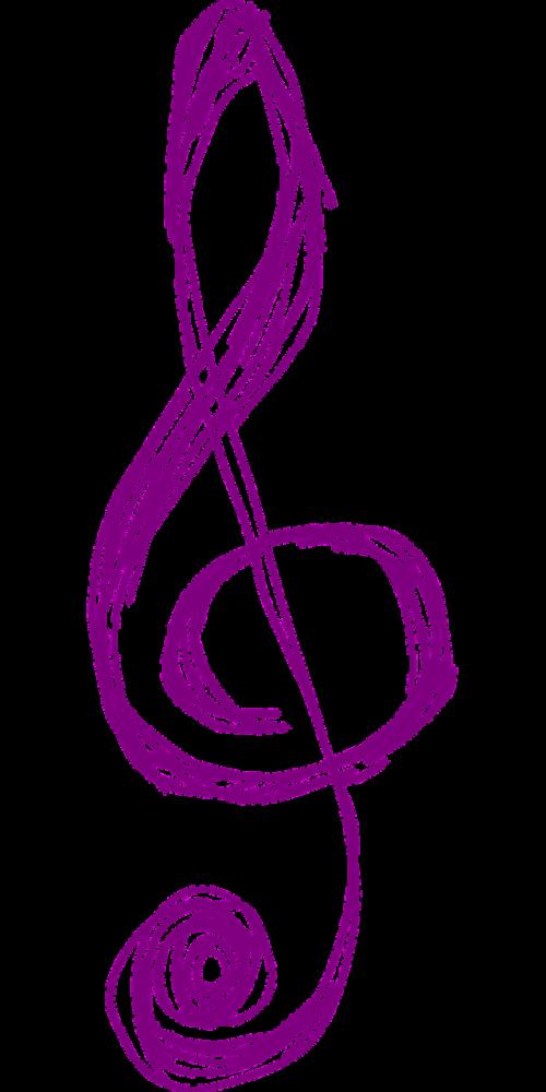 clef music purple