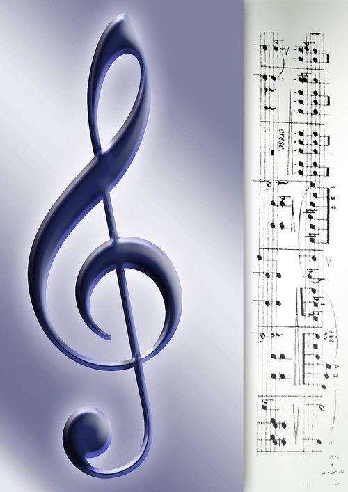 clef  music  sheet music
