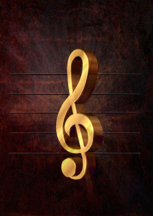 clef music notenblatt