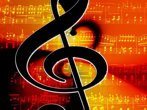 clef music lines