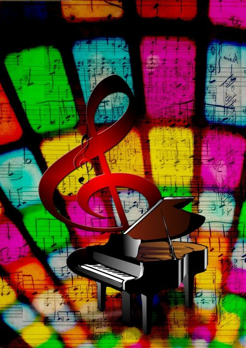 clef music piano