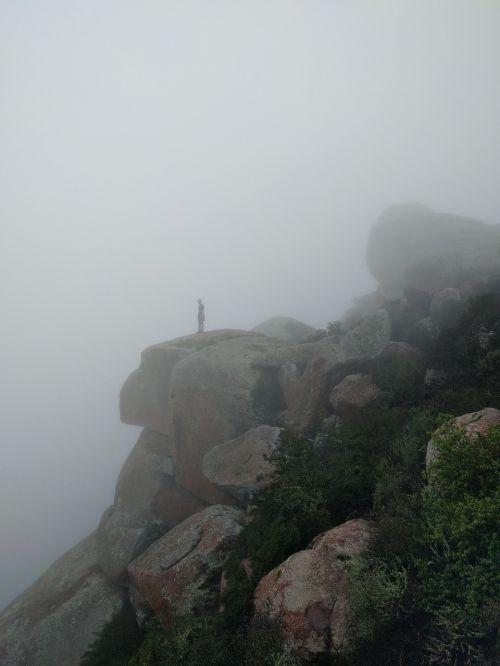 cliff person sillhouette