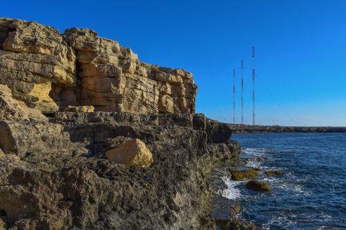 uolos,uolos pakrantė,pakrantė,erozija,geologija,gamta,cavo greko,Nacionalinis parkas,Kipras