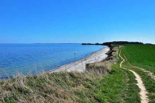 cliff baltic sea beach