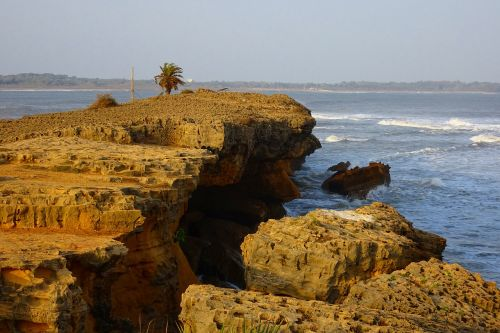 cliff rock coastline