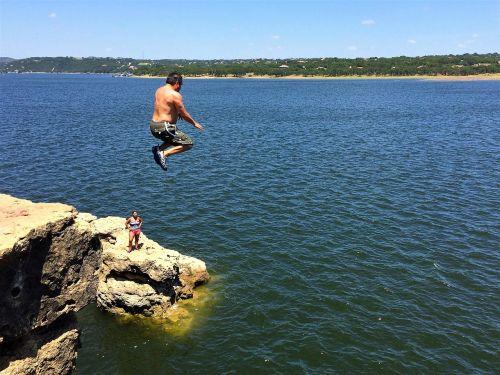 cliff jump lake