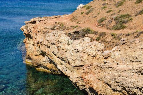 cliff rocky coast coastal path