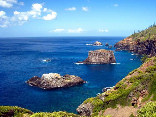 cliff rocks ocean