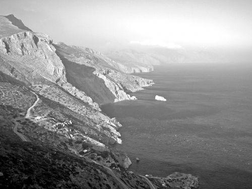 cliff amorgos cyclades
