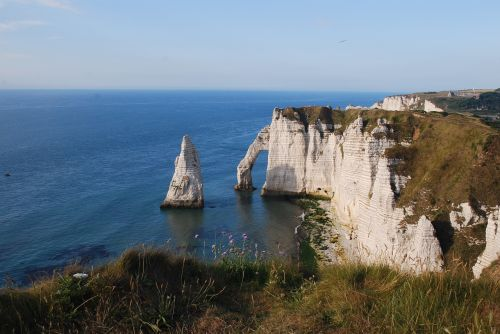 cliff etretat sea