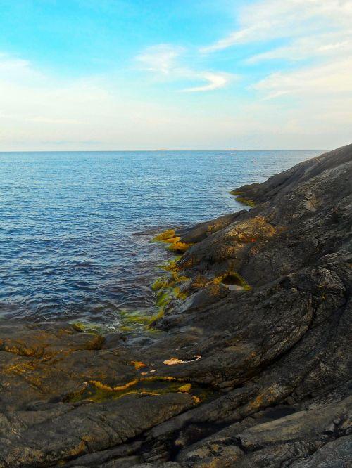 cliff seashore archipelago