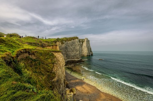 cliff  normandy  france